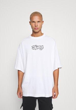 UNISEX MEGA OVERSIZED - Print T-shirt - white