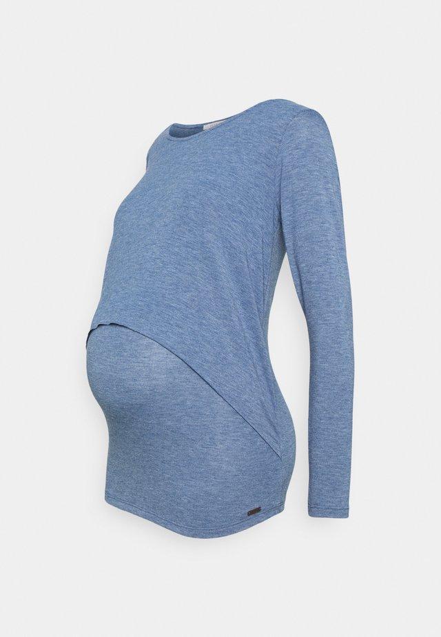 Long sleeved top - cinder blue
