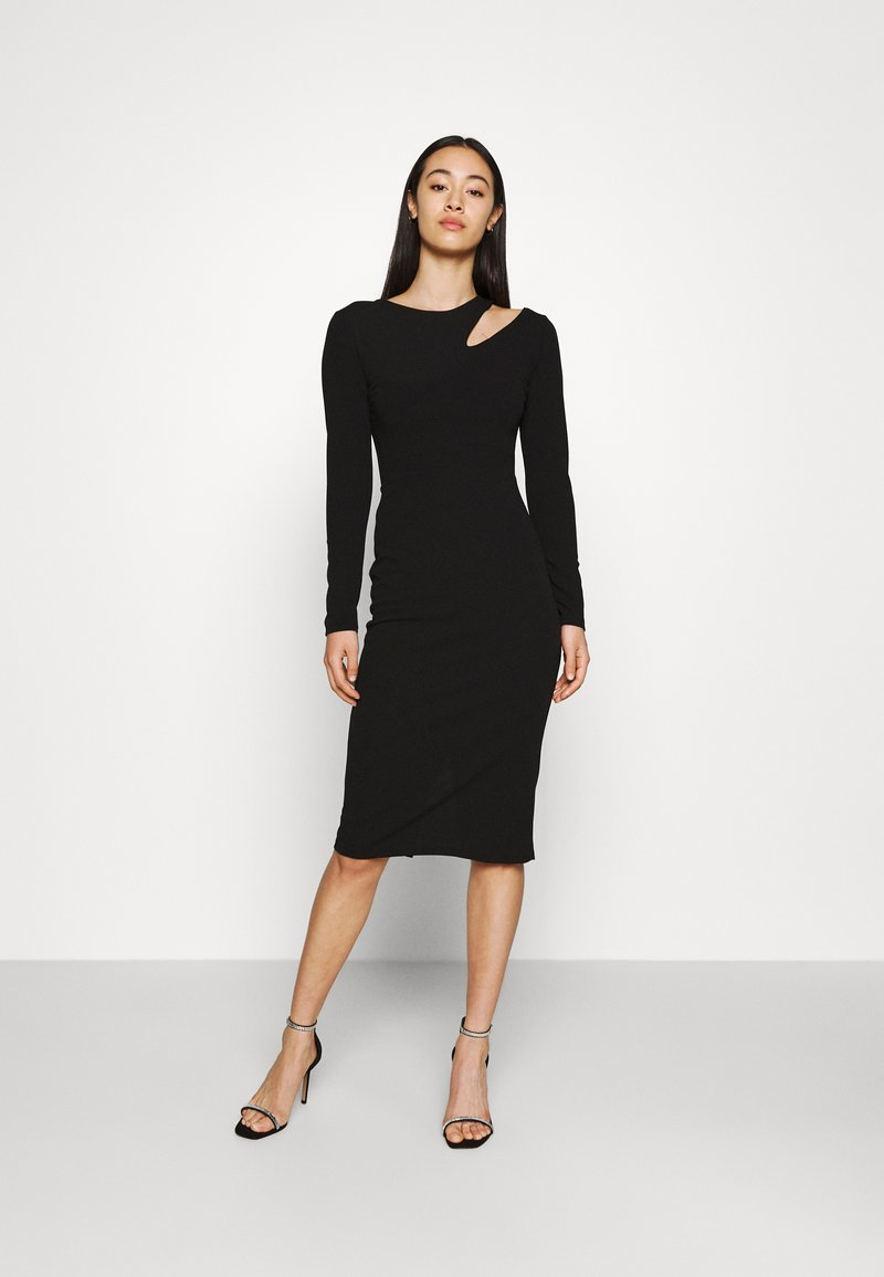 WAL G. - HATTIE CUT OUT MIDI DRESS - Jersey dress - black