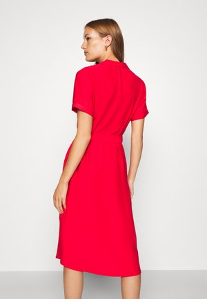 SHORT SLEEVE DRESS - Shirt dress - rio red