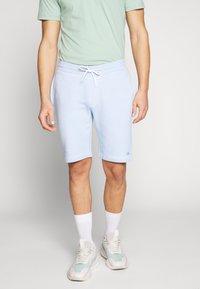 Calvin Klein - GARMENT FRONT LOGO - Teplákové kalhoty - blue - 0