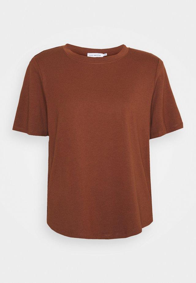 STRONG SHOULDER TEE - Basic T-shirt - tortoise shell