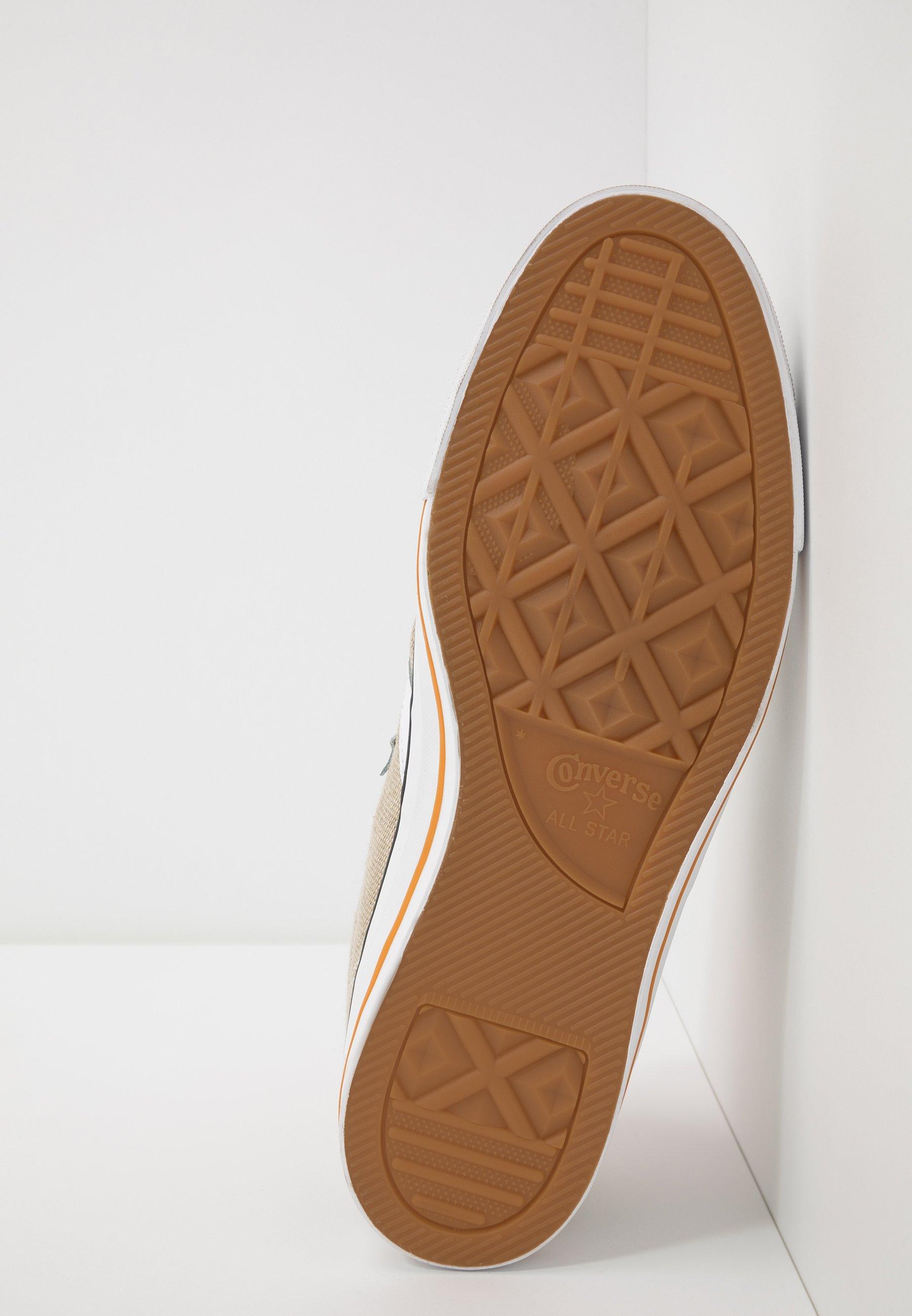 Converse Star Player - Sneakersy Niskie Khaki/white/bold Mandarin