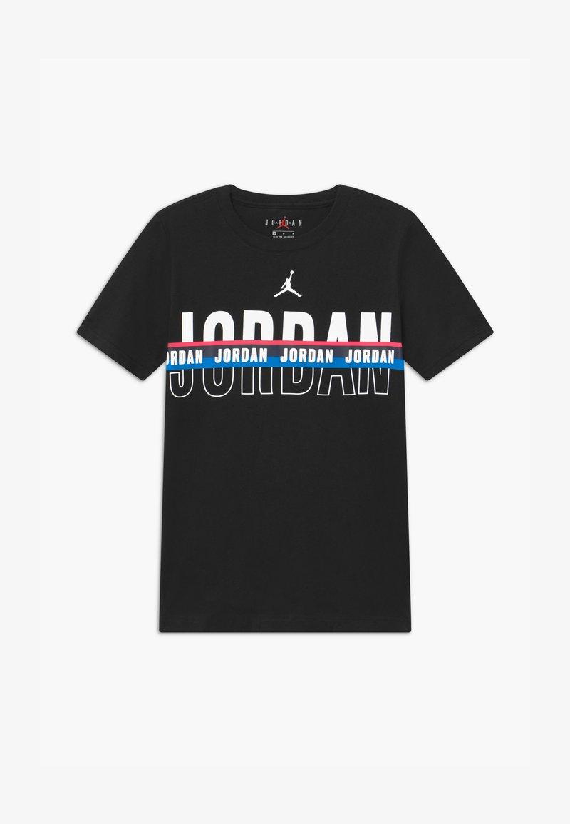 Jordan - SPLIT DECISION - Triko spotiskem - black