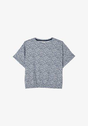 Print T-shirt - dark blue millefleurs