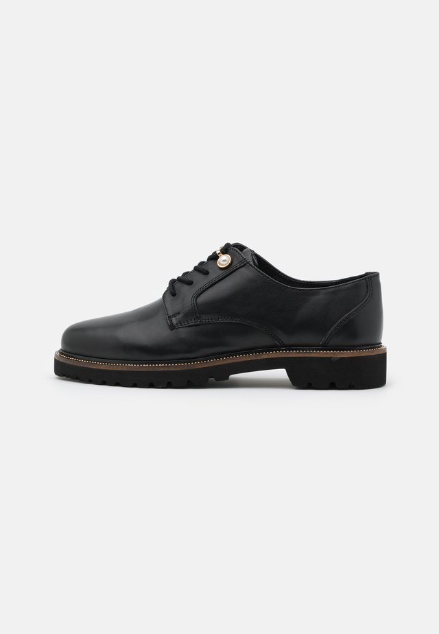 LACEY LACE UP LOAFER - Derbies - black