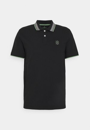 UNDERCOLLAR WORDING - Polo shirt - black