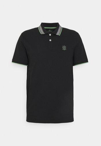 UNDERCOLLAR WORDING - Polo shirt - black