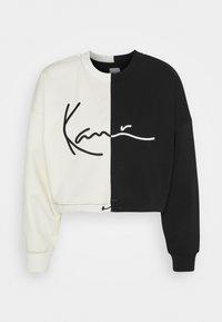 Karl Kani - SIGNATURE CROPPED BLOCK CREW - Sweatshirt - off white - 4