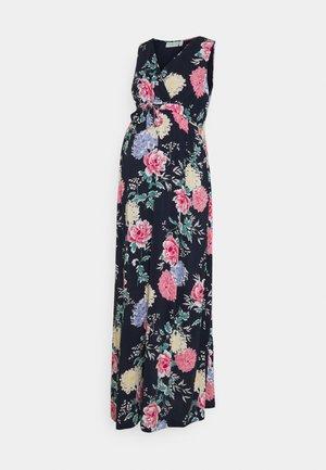 FLORAL DRESS - Maxi šaty - navy