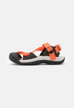ZERRAPORT II - Outdoorsandalen - safety orange/dark brown