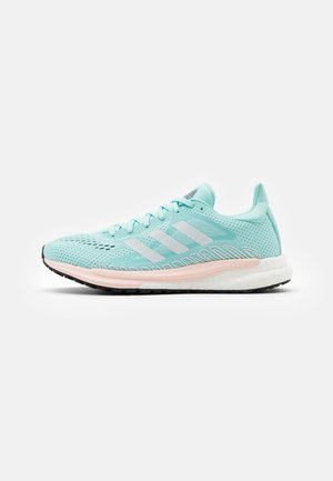 SOLAR GLIDE 3 - Neutral running shoes - frost mint/footwear white/pink tint