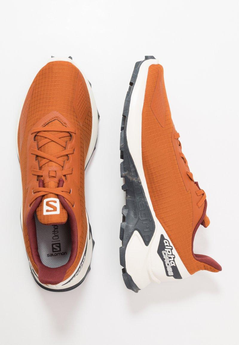 Salomon - ALPHACROSS BLAST - Trail running shoes - umber/vanilla/ebony