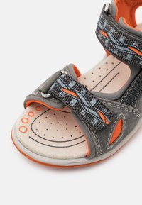Friboo - LEATHER - Walking sandals - dark grey - 5