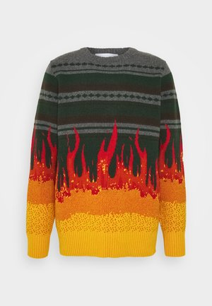BULKY KNIT FLAME - Pullover - flame