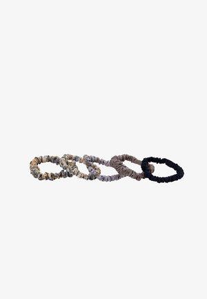 5 PRINTED SCRUNCHIES - Šátek na hlavu - mauve