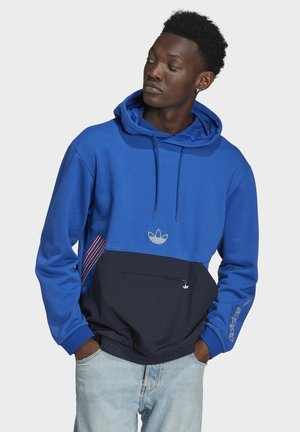 SPRT ARCHIVE MIXED MATERIAL SWEAT HOODIE - Hoodie - blue