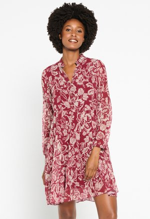 BABY-DOLL WITH  - Shirt dress - bordeaux