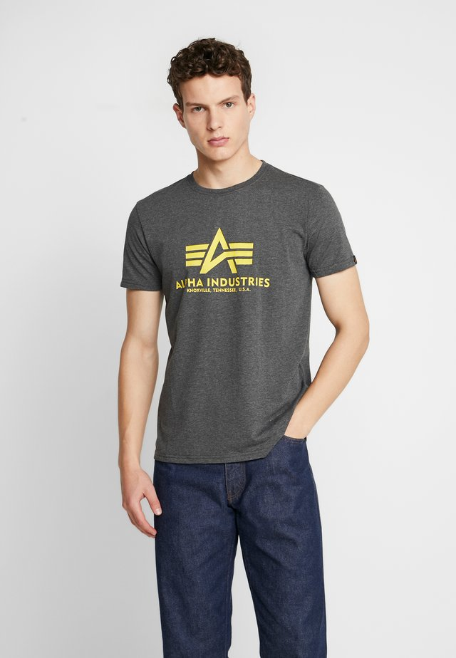 Camiseta estampada - charcoal heather