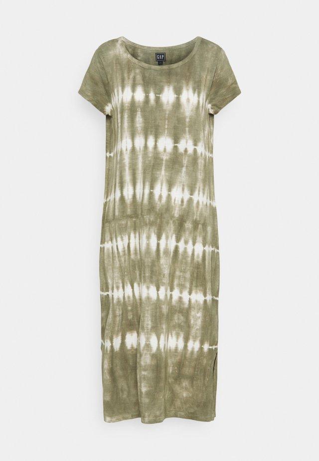MIDI TEE  - Jersey dress - olive