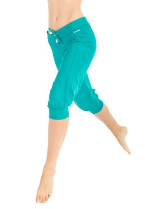 3/4 sports trousers - ocean green