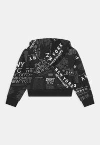 DKNY - HOODED  - Long sleeved top - black/white - 1