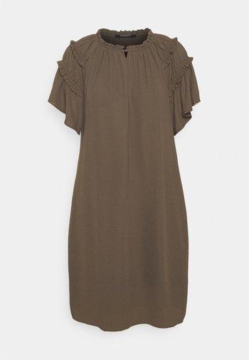 CAMILLA SILICA DRESS - Robe d'été - major brown