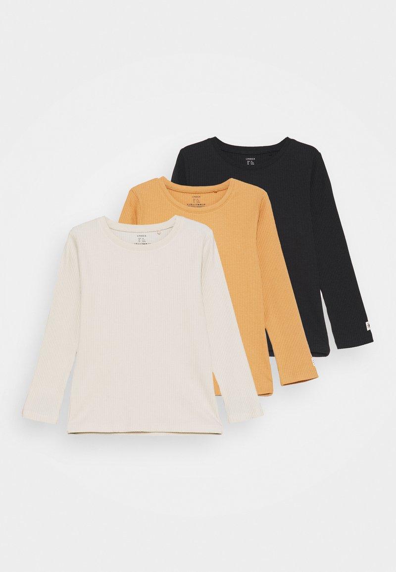 Lindex - MINI BASIC 3 PACK UNISEX  - Long sleeved top - light beige