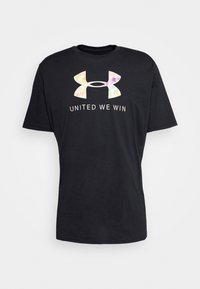 Under Armour - PRIDE - T-shirts med print - black/white - 4
