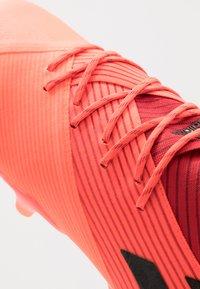 adidas Performance - NEMEZIZ 19.1 FG - Moulded stud football boots - signal coral/core black/red - 5