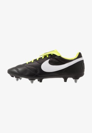THE PREMIER II SG-PRO AC - Screw-in stud football boots - black/white/volt