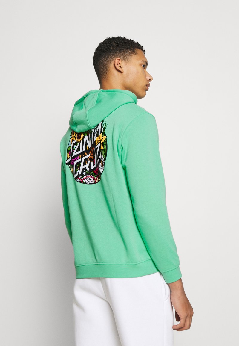 Santa Cruz - UNISEX DRESSEN PUP DOT HOOD - Sweatshirt - jade green