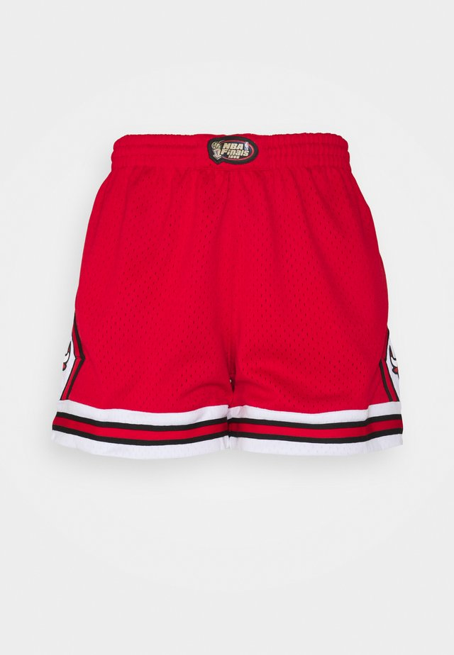 NBA CHICAGO BULLS WOMENS JUMP SHOT SHORT - Klubbkläder - red