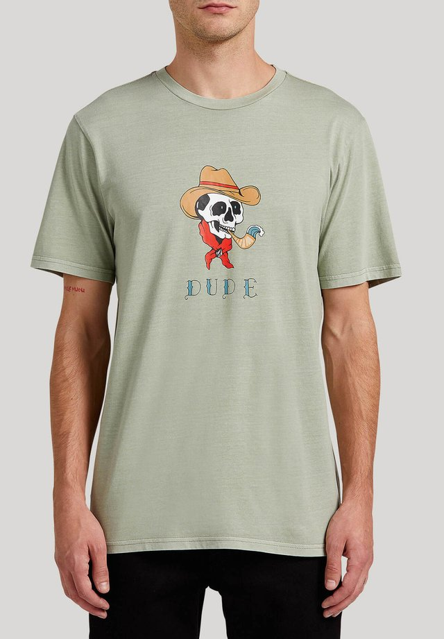 LASSOE - Print T-shirt - seagrass_green