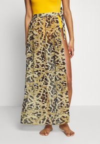 Wolf & Whistle - TIGER AND CHAIN ANIMAL BEACH SKIRT - Complementos de playa - brown - 0