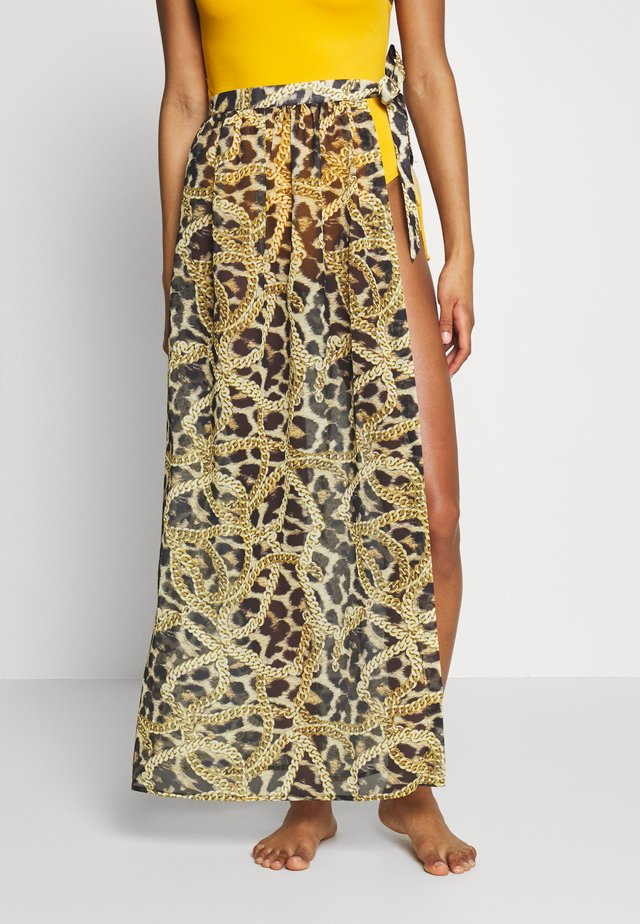 TIGER AND CHAIN ANIMAL BEACH SKIRT - Ranta-asusteet - brown
