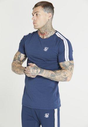 STATUS TAPE TEE - Basic T-shirt - navy