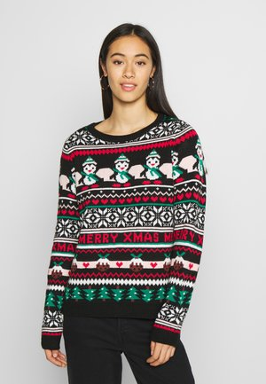 XMAS FAIRISLE JUMPER - Maglione - black