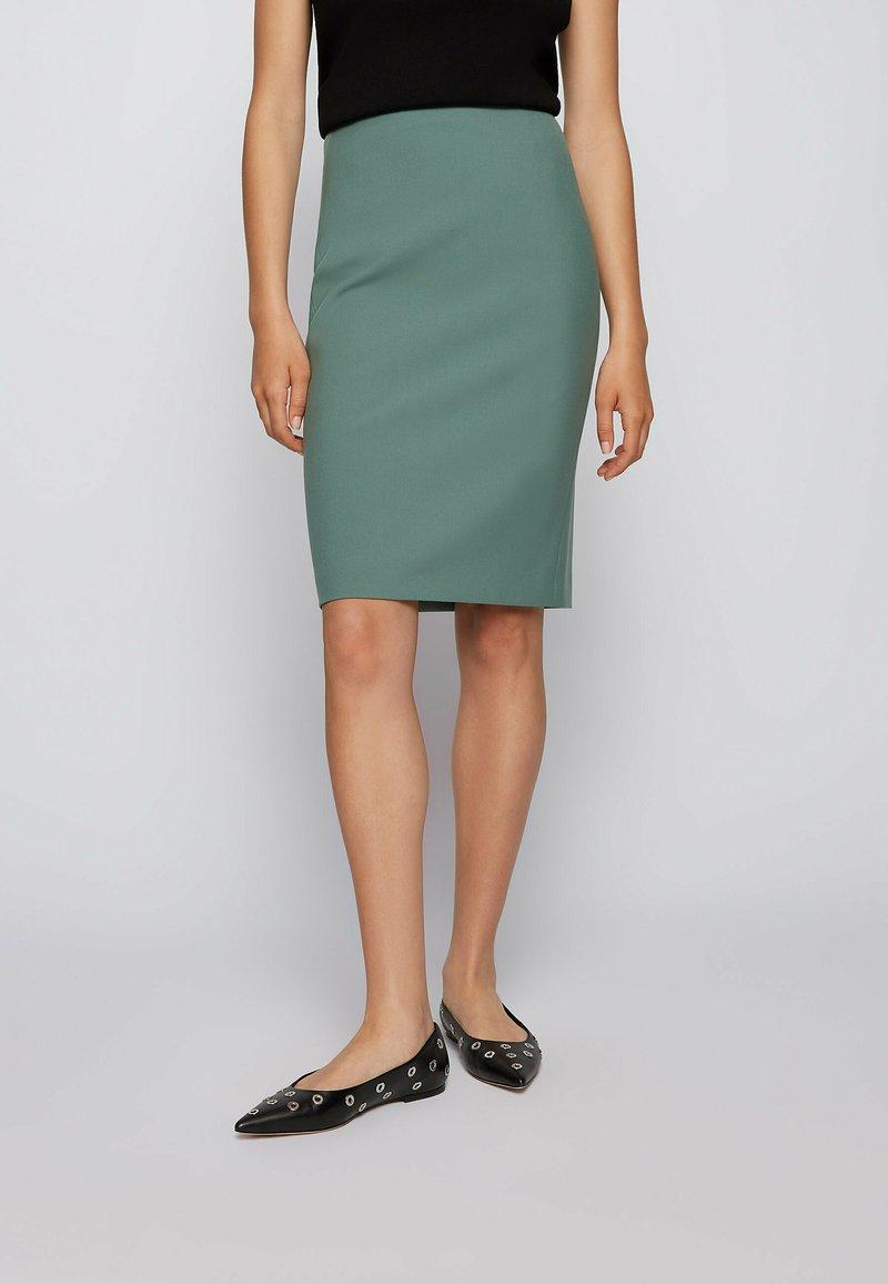 BOSS - VEROKI - Pencil skirt - light green