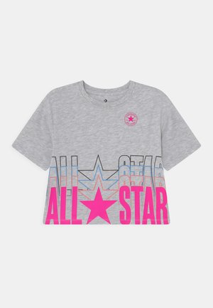 ALL STAR REPEAT BOXY TEE - T-shirts med print - lunar rock heather