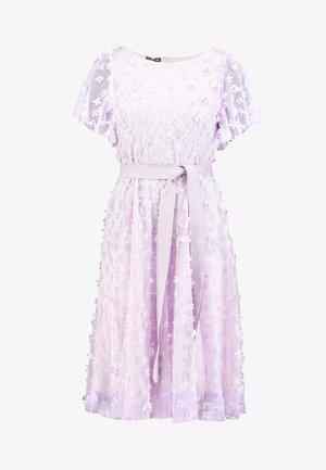 EMBROIDERED DRESS - Cocktailjurk - lavender