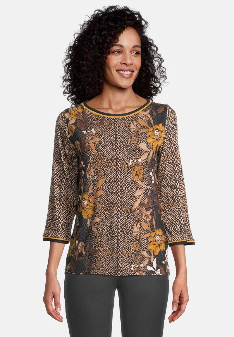 Betty Barclay - T-shirt à manches longues - black/yellow
