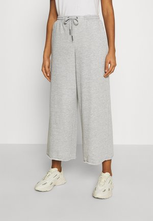 NMJULIA COULOTTE PANTS - Pantalones deportivos - light grey melange