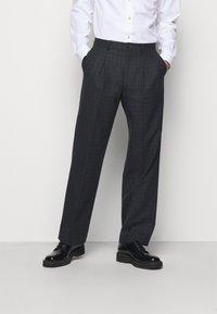 PS Paul Smith - MENS TROUSER WIDE LEG - Suit trousers - black - 0