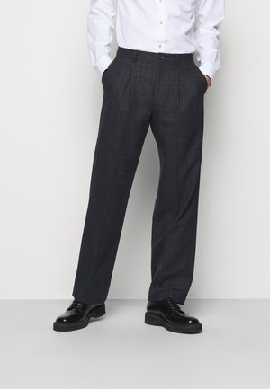 MENS TROUSER WIDE LEG - Oblekové kalhoty - black