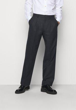 MENS TROUSER WIDE LEG - Spodnie garniturowe - black
