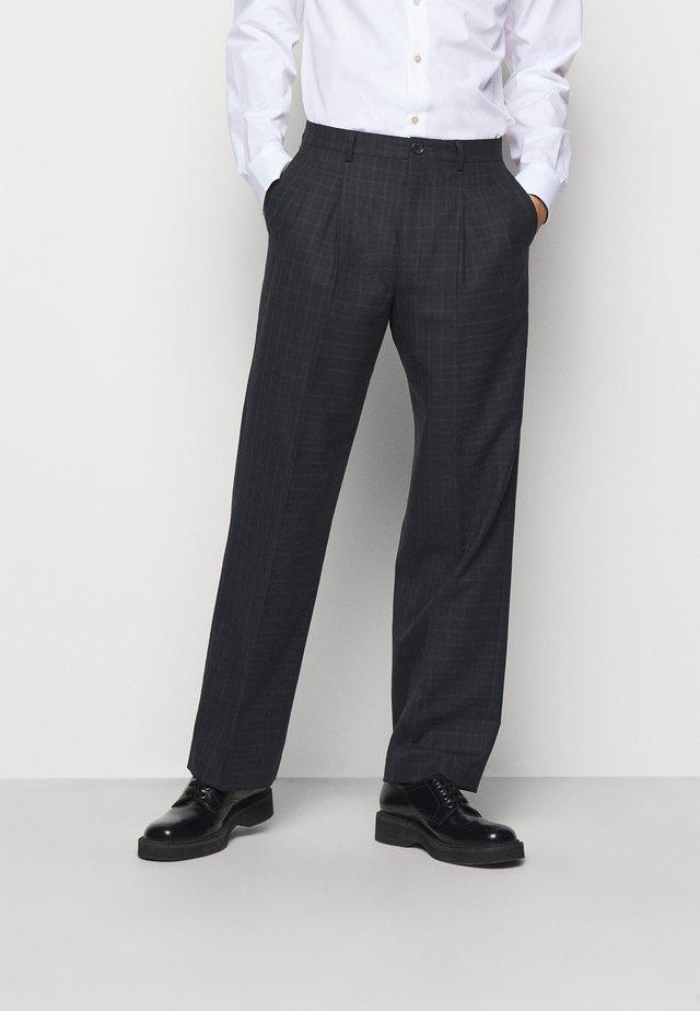 MENS TROUSER WIDE LEG - Kostymbyxor - black