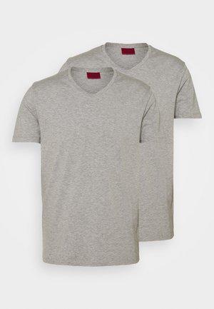 V NECK 2 PACK - Basic T-shirt - grey