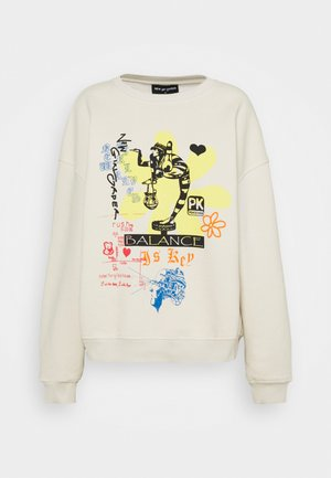 BALANCED LIFE - Sweatshirt - cream