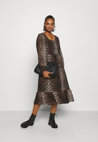 ONLY - ONLLEA MIDI DRESS  - Day dress - black - 2